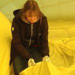 Jahreskontrolle Heißluftballon-Hülle